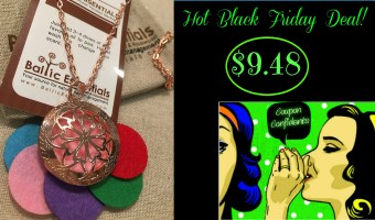 Black Friday Deal: Aromatherapy Essential Oil Diffuser Locket Necklace