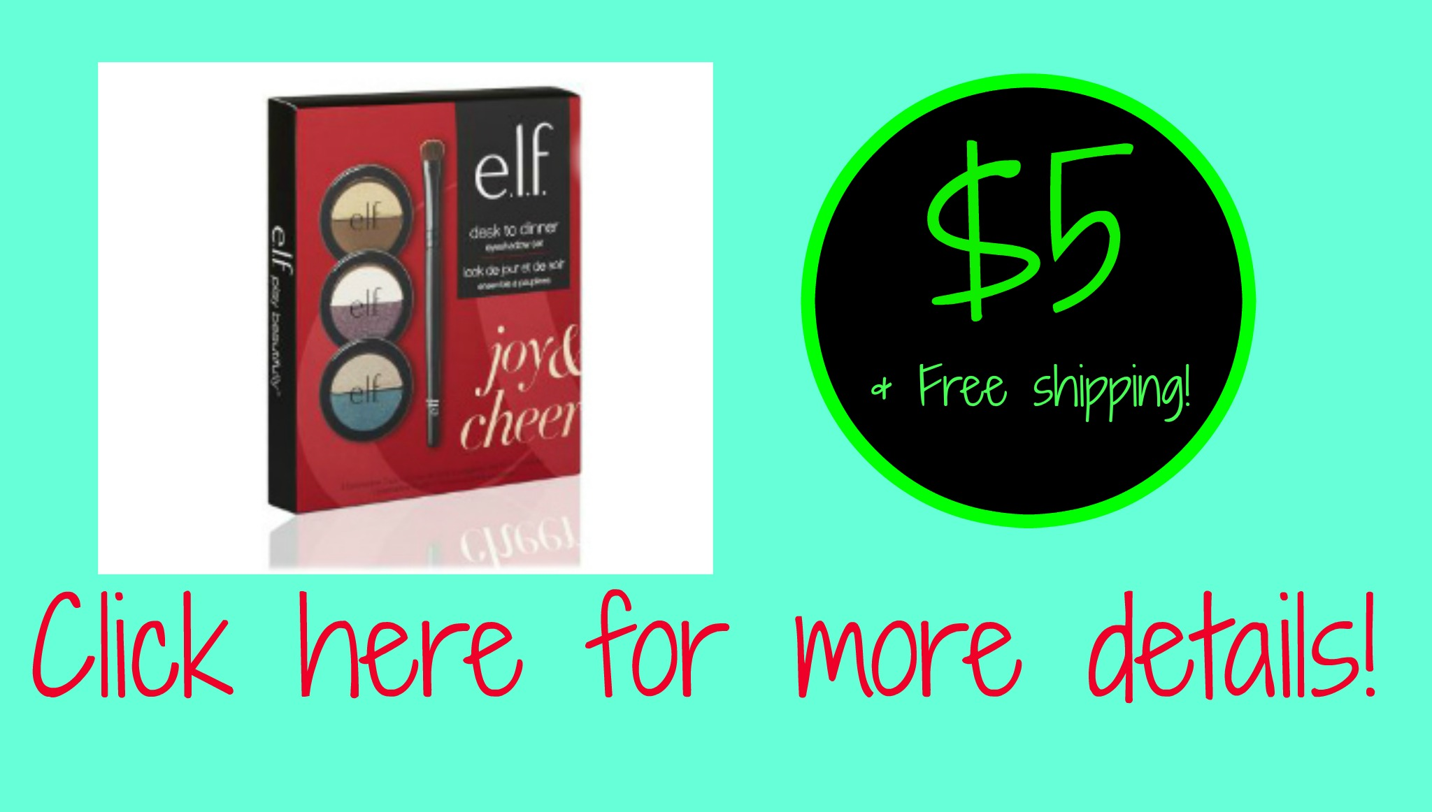 Elf Cosmetics kits $5 with Free Shipping!!!