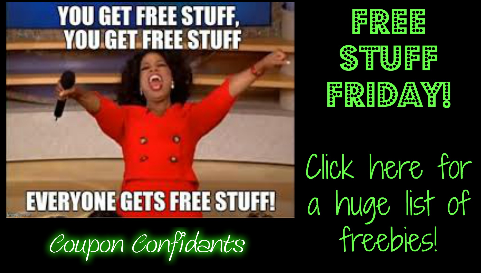 Free Stuff Friday! Click here for some great freebies!