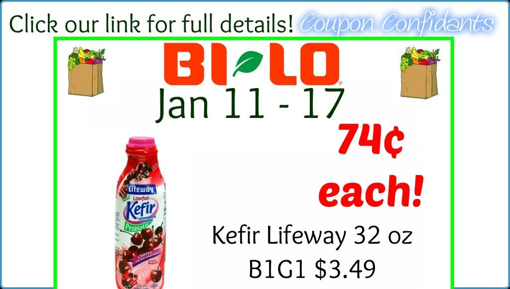 Kefir Lifeway Deal at Bi-lo! Only 74¢ each 32 oz!