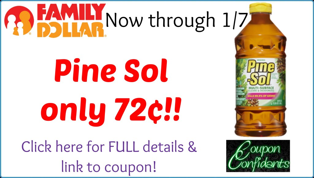 Pine Sol only 72¢ at Family Dollar!