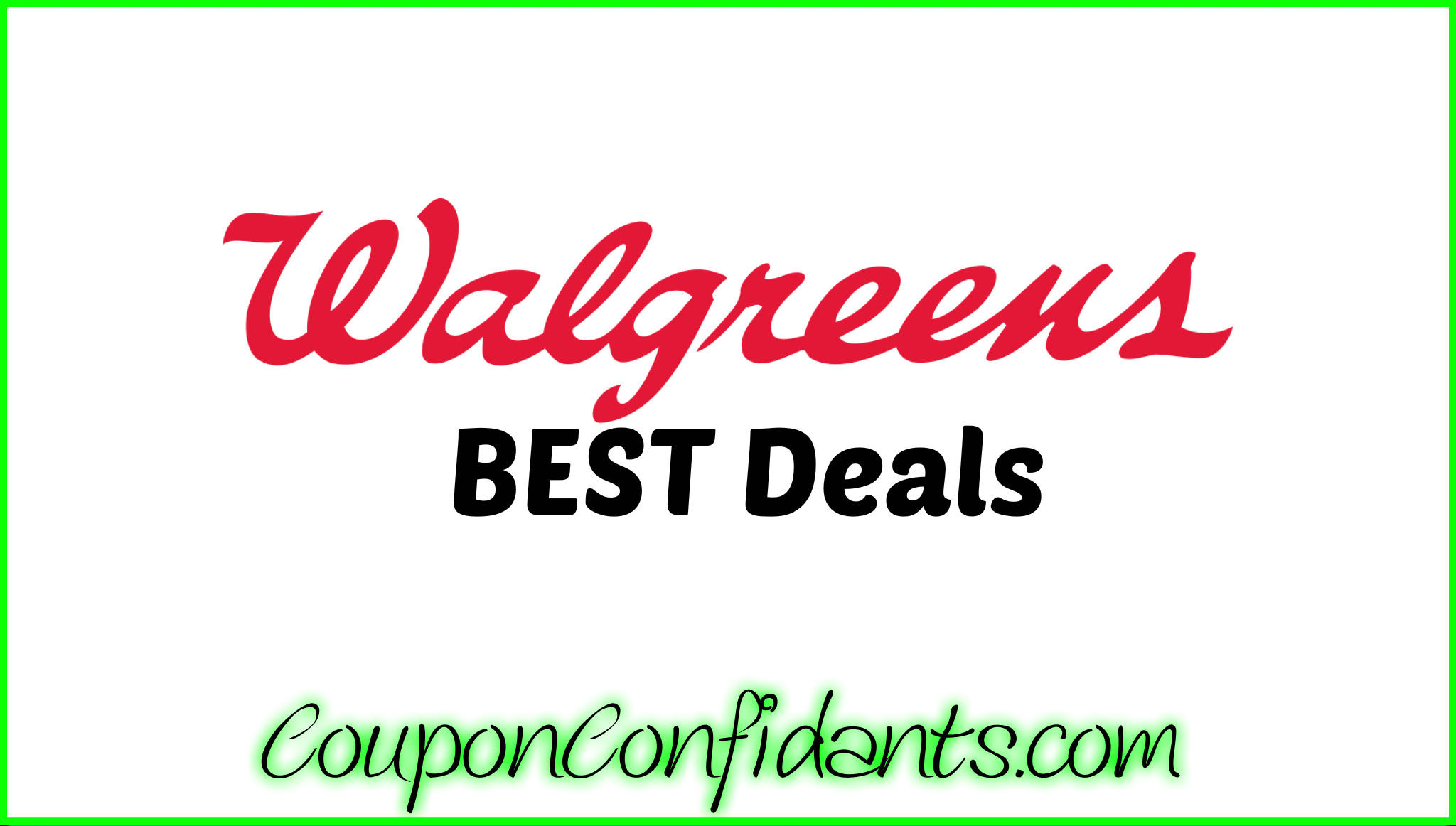 Walgreens Best Deals Aug 13 - 19