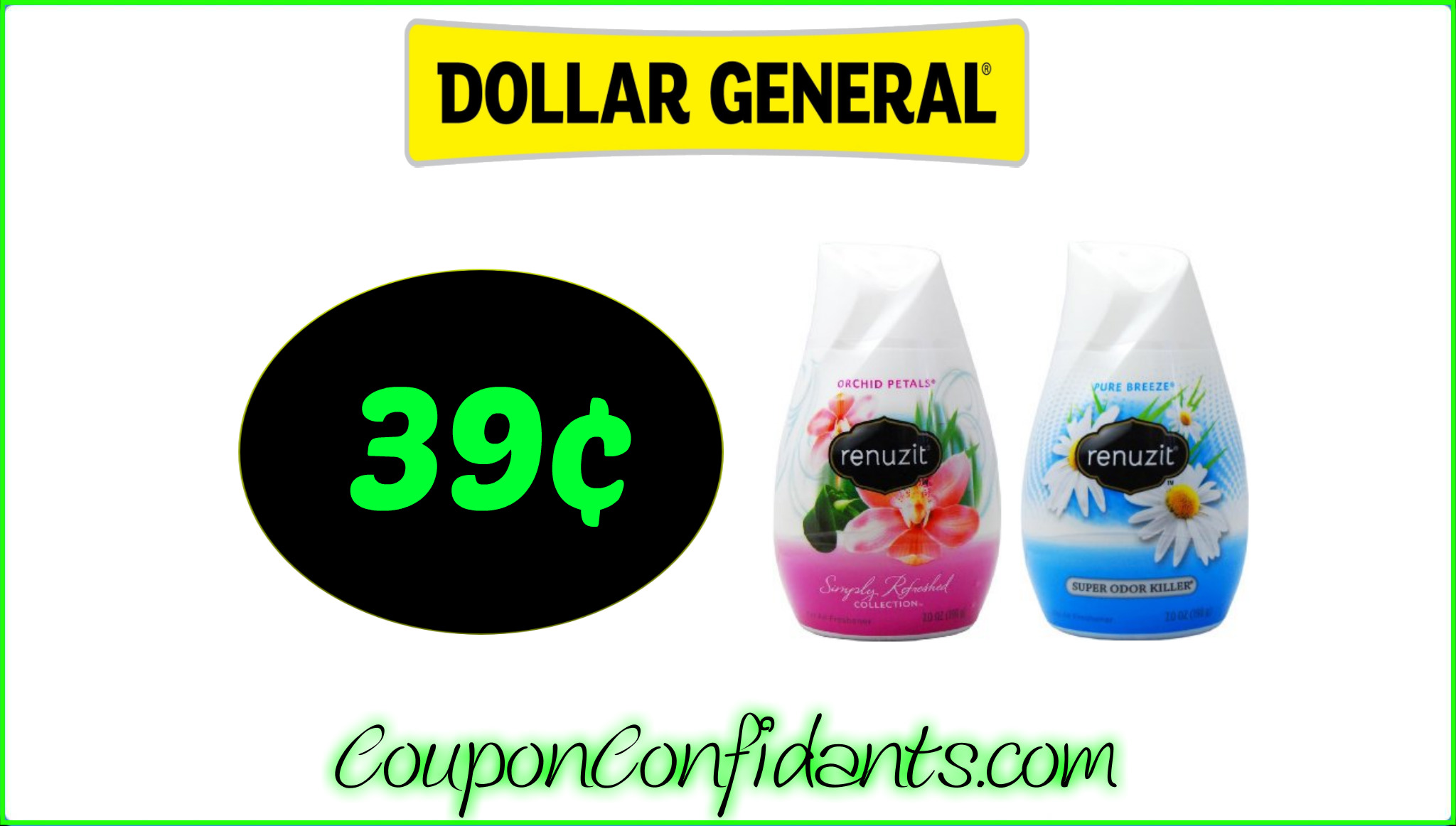 Renuzit Cones for only 39¢ at Dollar General!!!
