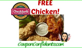 FREE 5 piece at Cheddar's Restaurant on us! :)