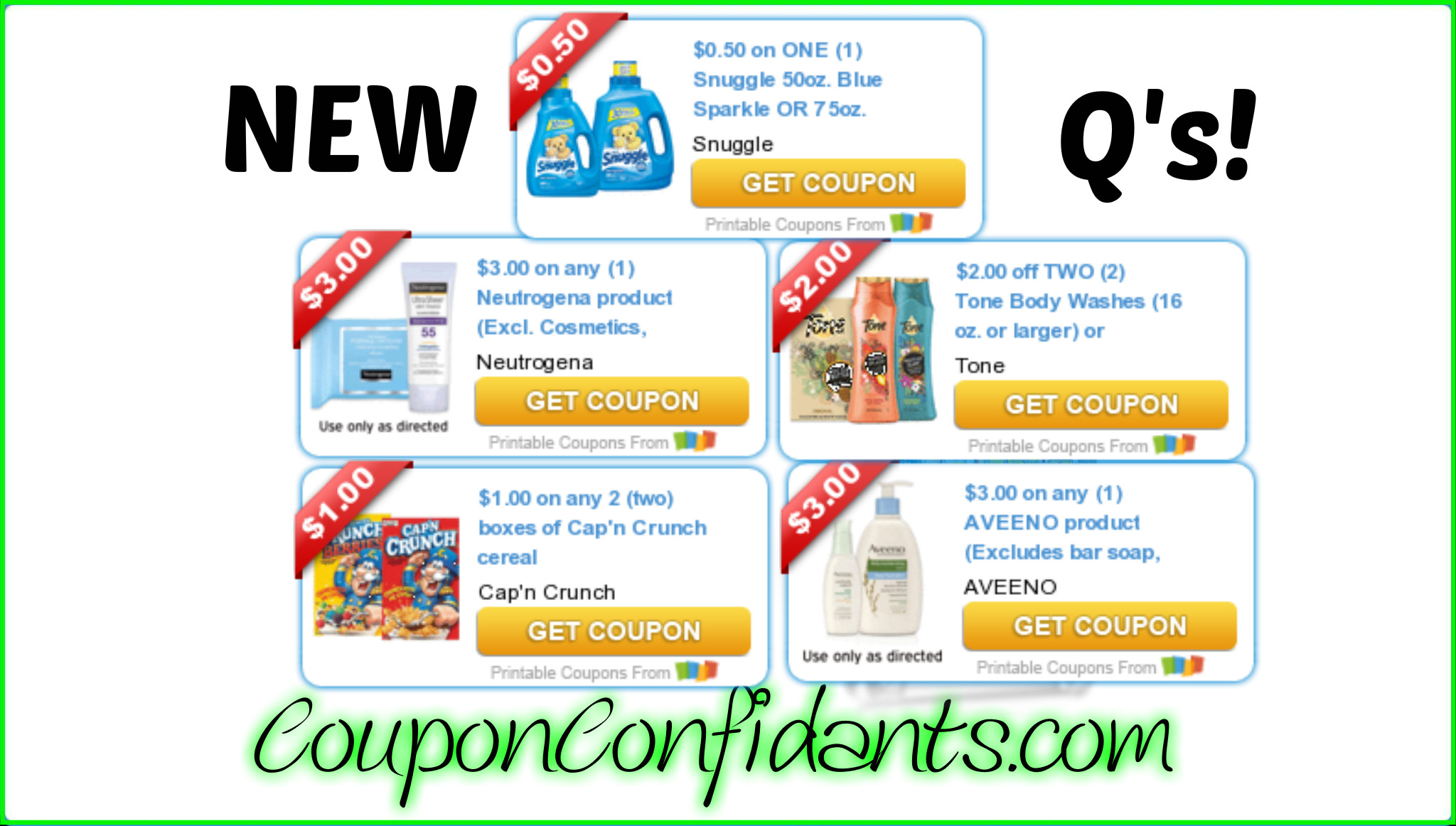 NEW Coupons to Print!! YES!
