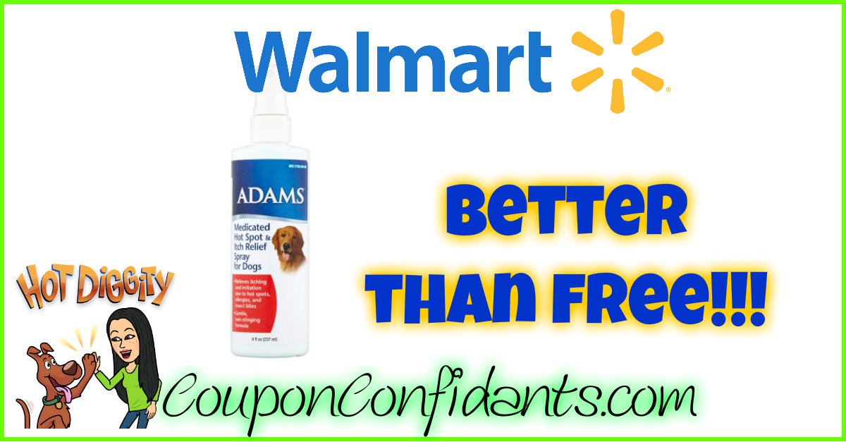 Better than FREE Adam's Pet Itch Spray at Walmart!