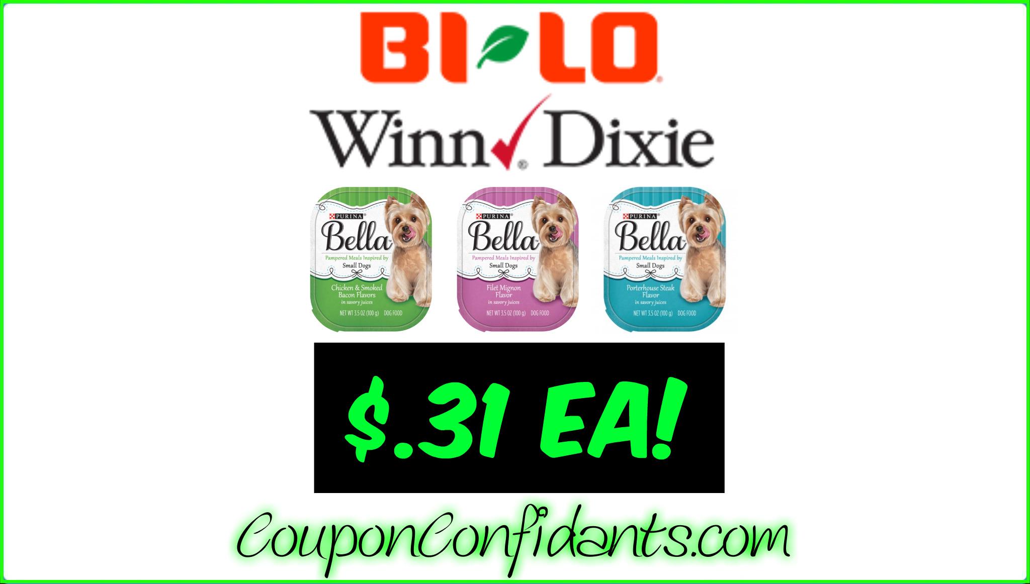 Stock up price on Bella Dog Food! Winn Dixie & Bi-lo