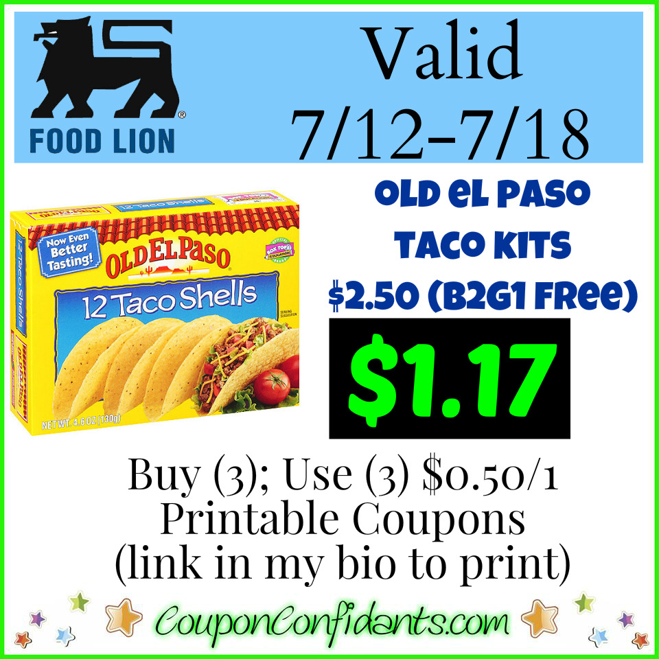 It's Taco time at Food Lion!