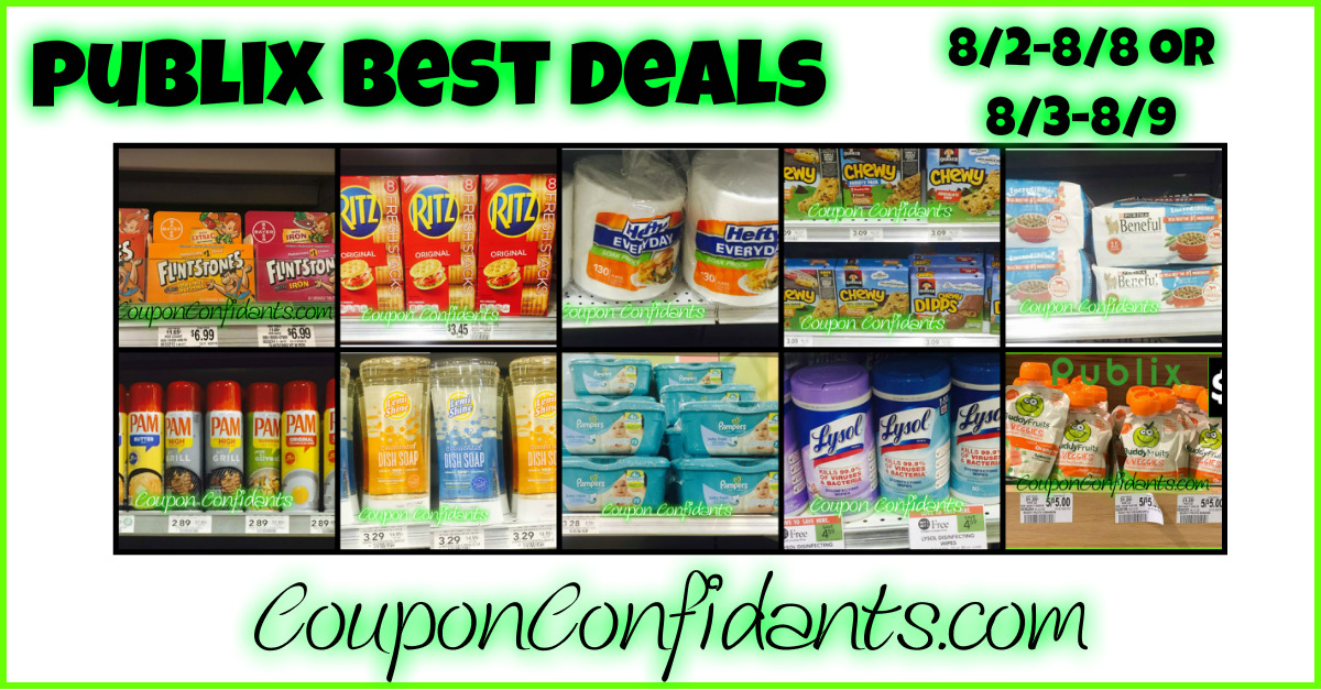Publix BEST Deals 8/2 - 8/8 OR 8/3 - 8/9