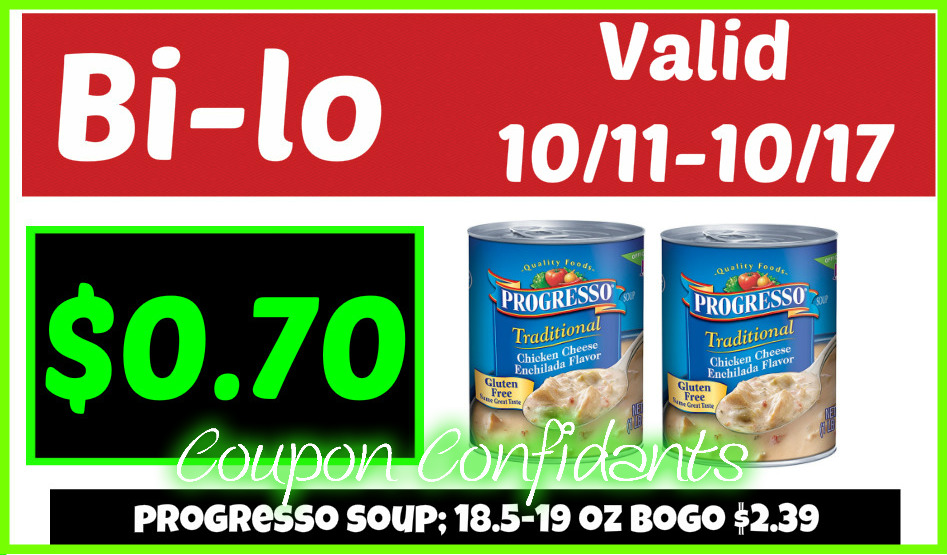 Stock up on Progresso Soup - Bi-lo Deal!