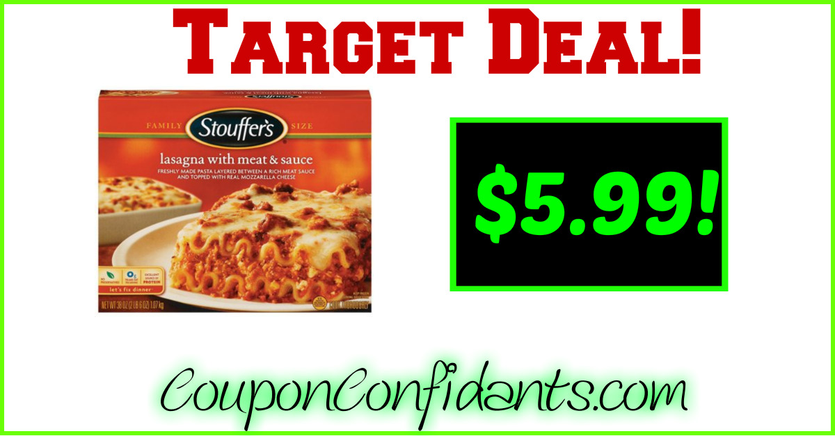 WOW!! Family Size Lasagna only $5.99 at Target!!