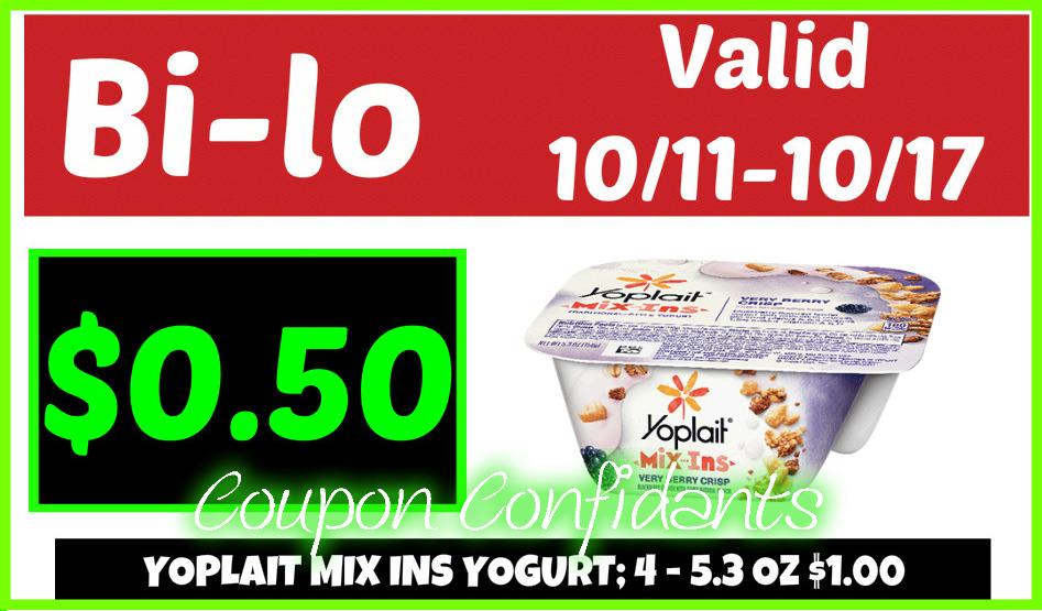 Yoplait Mix Ins Yogurt - $0.50 at Bi-lo!