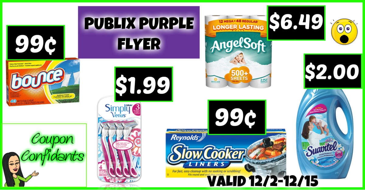 Publix Purple Flyer 12/2 - 12/15