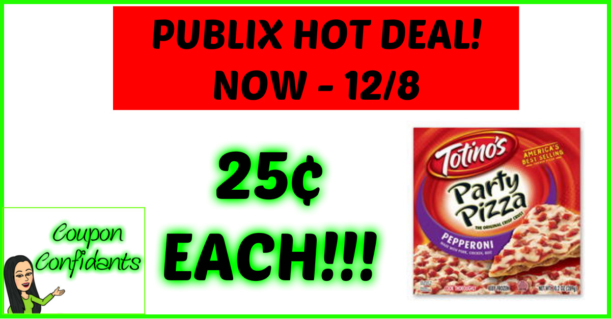 25¢ Totino's Pizzas at Publix!!