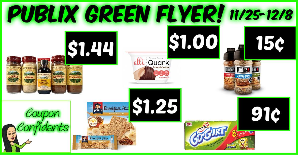 Publix Green Flyer Deals Nov 25 - Dec 8
