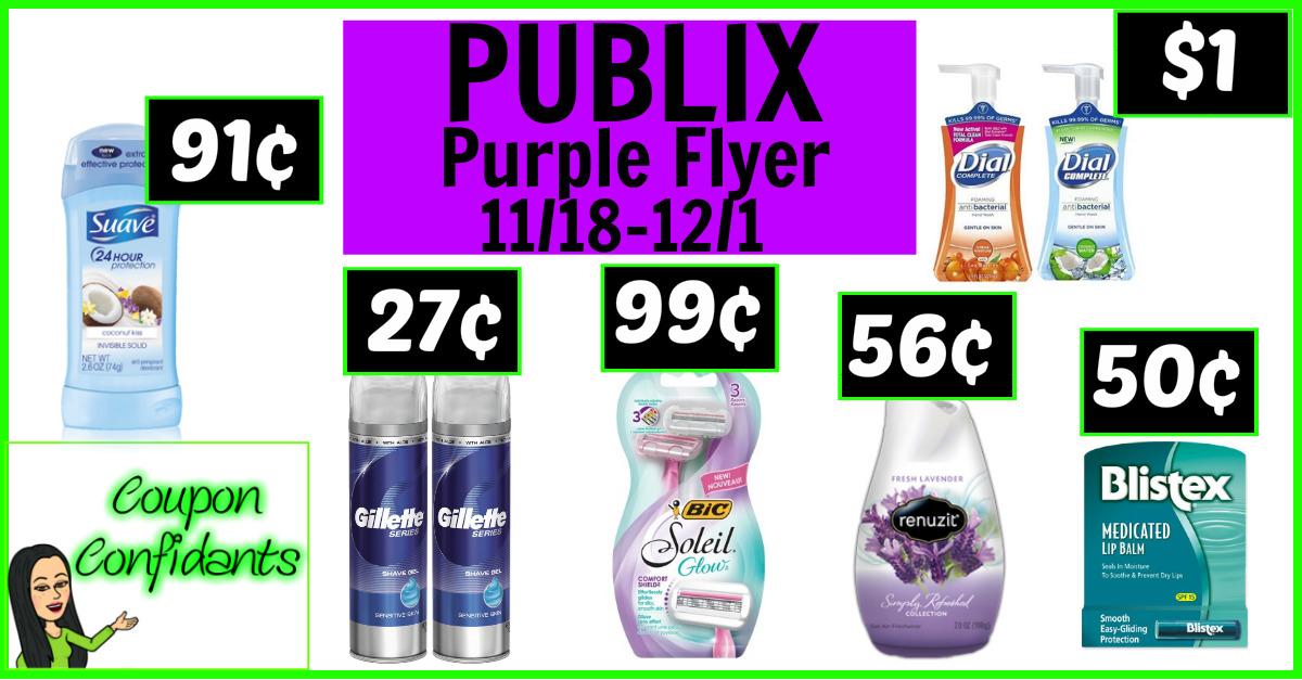 Publix - Purple Flyer Nov 18 - Dec 1