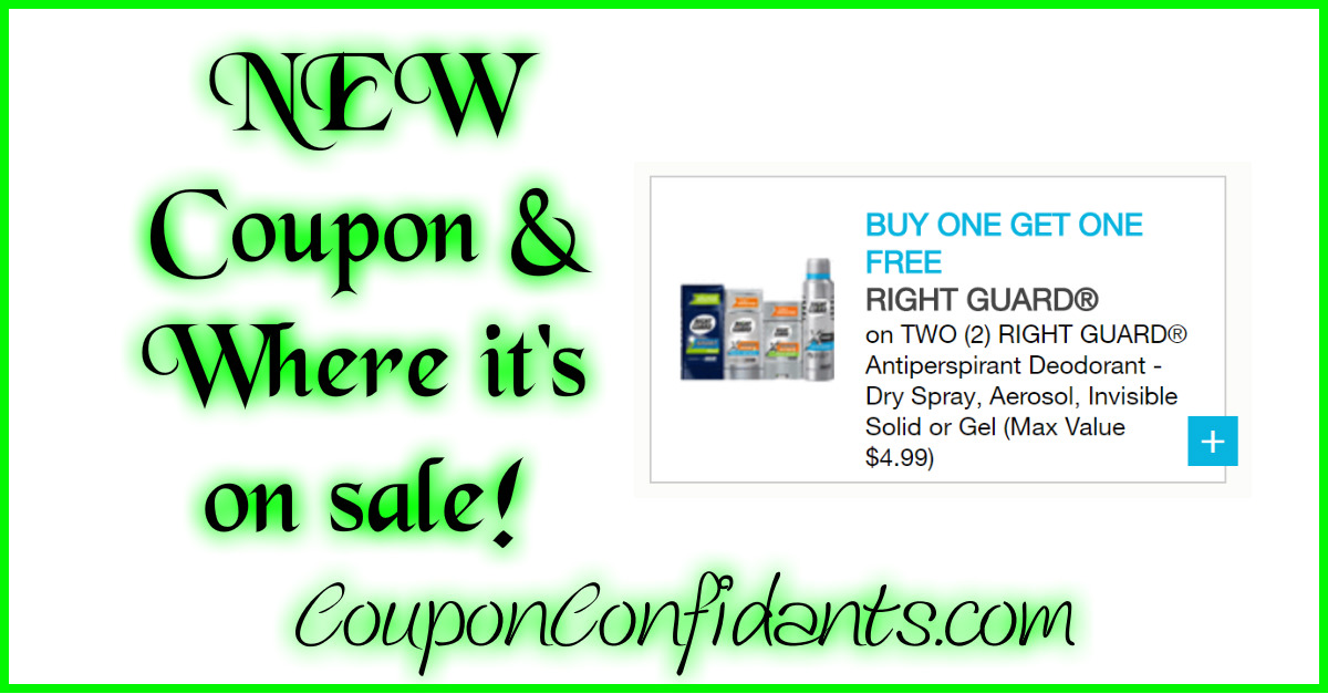 NEW Right Guard Coupon & Current Sales!!