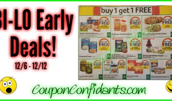 Bi-lo Early Look!! 12/6 – 12/12