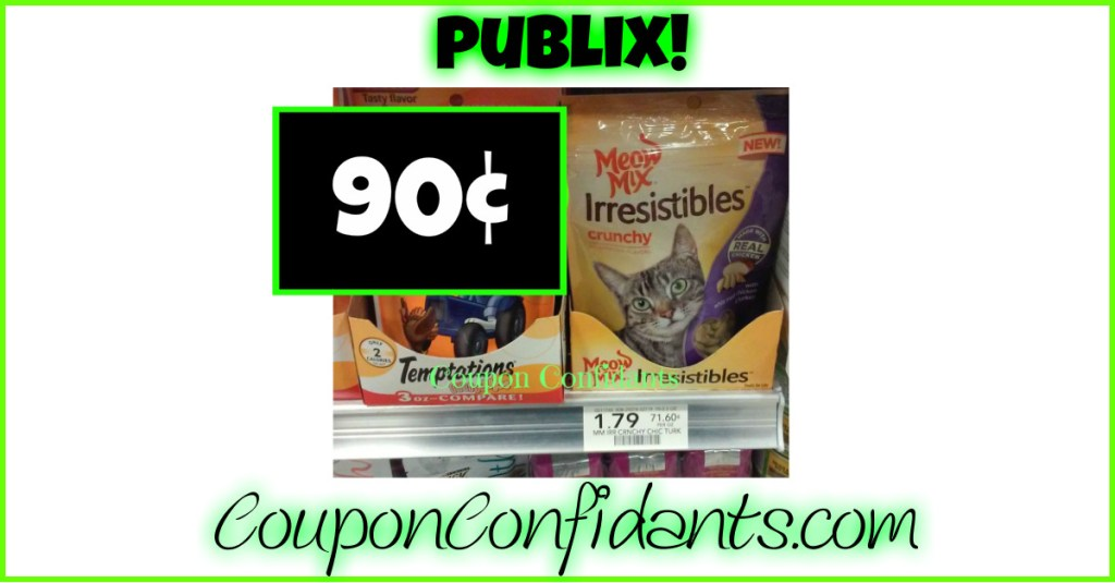 Meow Mix Treats only 90¢ at Publix!