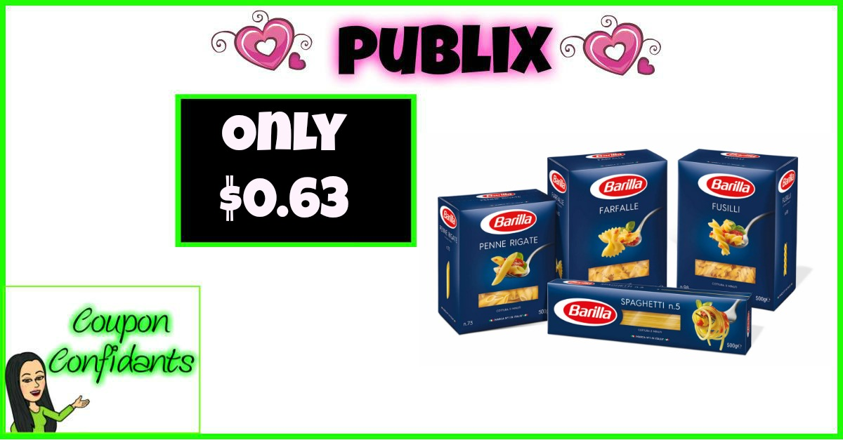 Barilla Blue Box Pasta Only $0.63