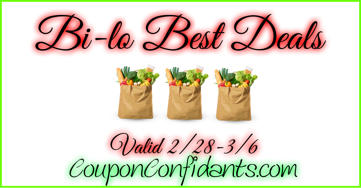 Bi-lo BEST Deals and Match ups! 2/28 - 3/6