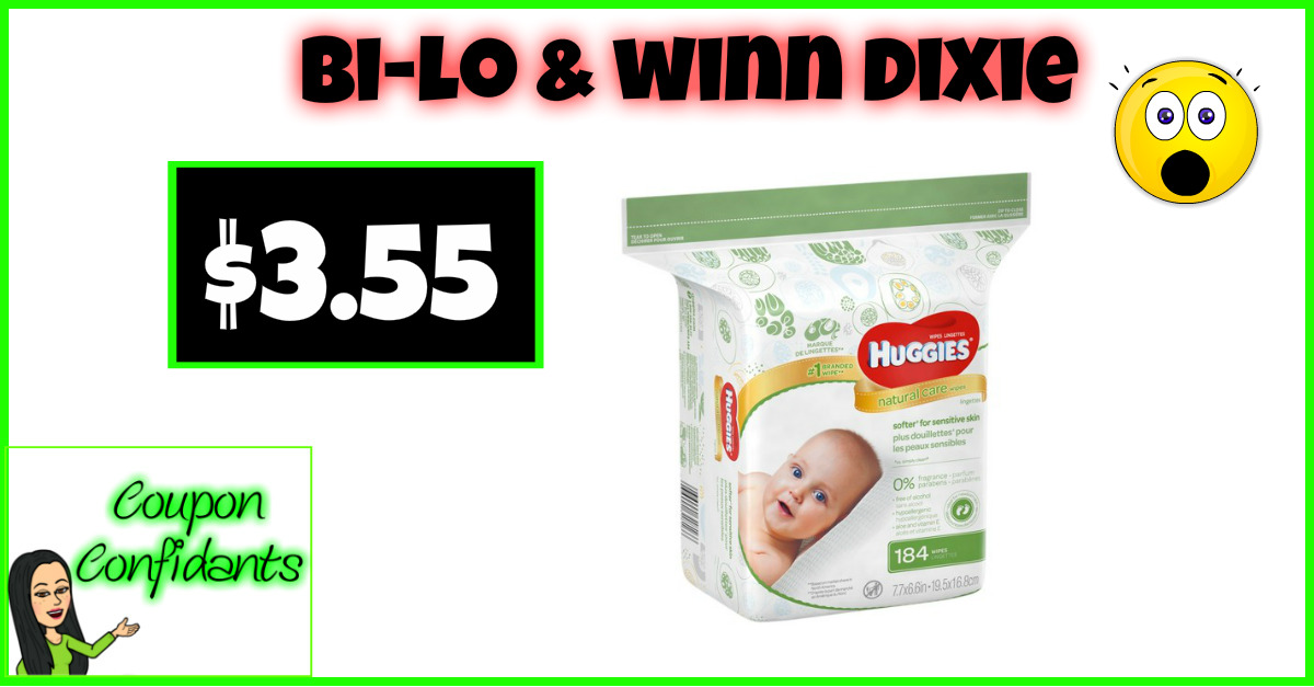 Huggies Wipes 355 at Bilo and Winn Dixie Coupon Confidants