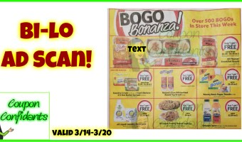 NEW Bi-lo Ad Scan!! 3/14 – 3/20