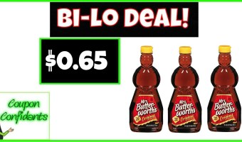WOW! Mrs. Butterworth's Syrup Only $0.65