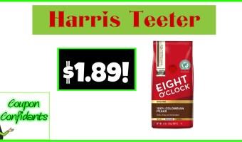 Eight O' Clock Coffee only $1.89