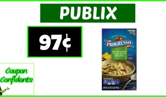 Progresso Broth 97¢ at Publix!!