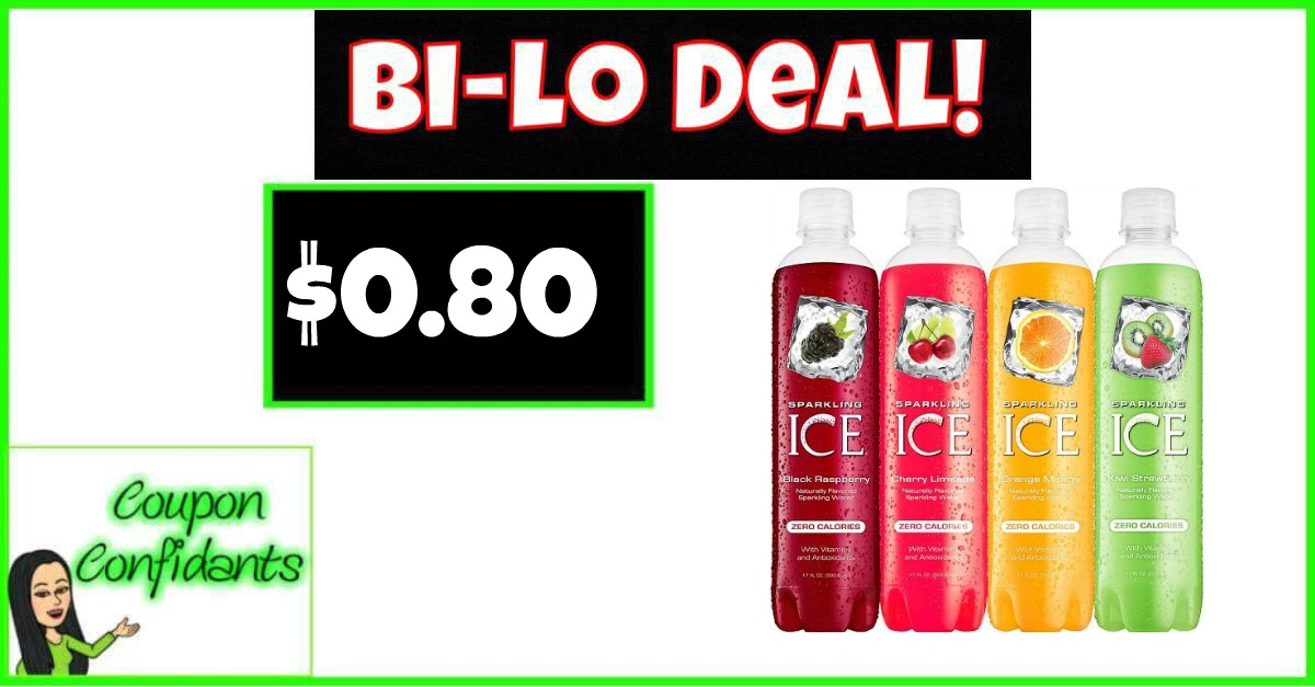 Sparkling Ice Drinks Only $0.80