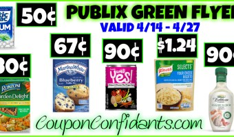 Publix Green Flyer Best Deals and FULL Match ups April 14 – April 27