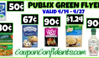 Publix Green Flyer Best Deals and FULL Match ups April 14 – April 27