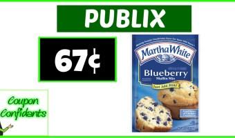 Martha White Muffin Mix 67¢ – Publix