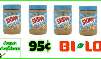 Skippy Peanut Butter as low as 95¢ at Bi-lo