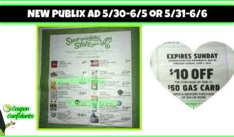 Publix AD 5/30 – 6/5 or 5/31 – 6/6 – Gas Card Week!!