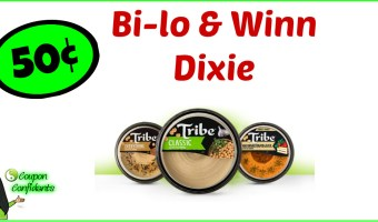 50¢ Tribe Hummus is back! Winn Dixie and Bilo!