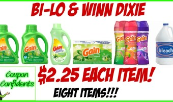 Stock up Gain Items at Winn Dixie and Bi-lo!!