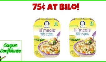 Gerber Lil Meals or Sides 75¢ at Bi-lo!