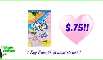 Wyler's Drink Mix $0.75 at most stores!!