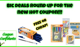 Bic Deals Round up – Back to School – Free or Cheap!