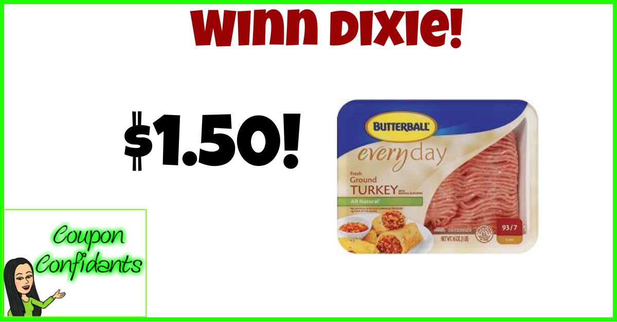 picture about Butterball Coupons Turkey Printable identified as Butterball Floor Turkey at Winn Dixie!! Inventory up year