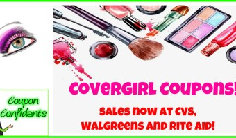 NEW CoverGirl Coupons and Current Sales!
