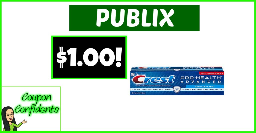 Crest Pro Health or 3D White Toothpaste $1 at Publix!