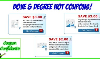 High Value Dove & Degree Coupons! Hurry!