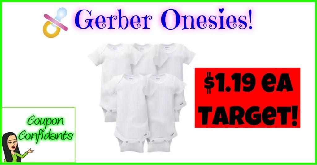 $1.19 each Onesie at Target!!