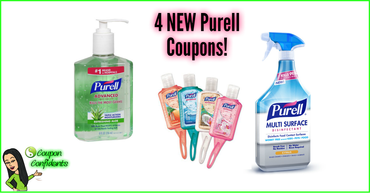 graphic regarding Purell Printable Coupons named Fresh new Purell Discount codes! $4 Great importance! ⋆ Coupon Confidants