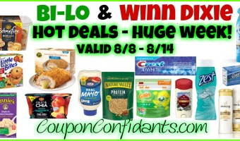 Bi-lo and Winn Dixie HOT HUGE Week!! 8/8 – 8/14 WOW!!