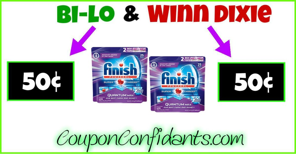 Finish Quantum Tabs only 50¢ at Winn Dixie and Bi-lo! WOW!