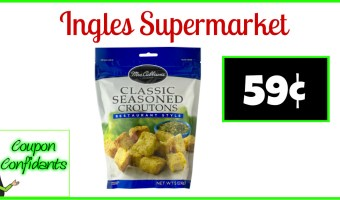 Mrs. Cubbison's Croutons or Tortilla Strips 59¢ at Ingles Supermarkets!
